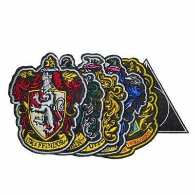 Harry Potter : SET OF 6 HOUSE CREST PATCHES Iron On Badges from Cinereplicas