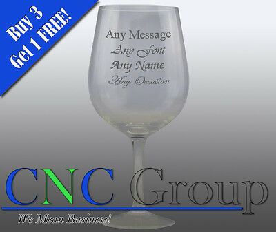 Personalised Engraved GIANT Wine Glass Maid Of Honour Birthday Christmas Wedding