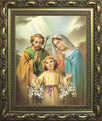 The Holy Family Mary Joseph Baby Jesus Picture - Gold Decorative Moulded Frame