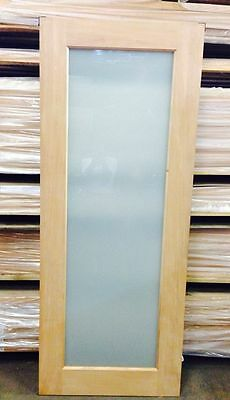 1 Lite White Translucent Glass Exter / Inter Solid Timber Door ALL SIZES Avail