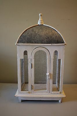 Shabby Chic Cathedral Style Home Decor Bird Cage Planter