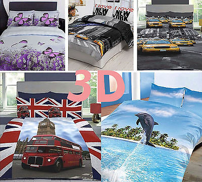 New 3D Effect Design Duvet Sets Quilt Cover Beautiful Bedding With Pillow Cases