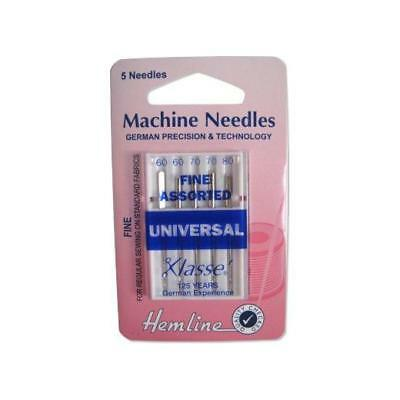 Hemline Sewing Machine Needles - Universal