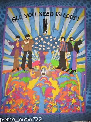 Personalize - The Beatles All You Need Is Love Throw Lap Crib Blanket
