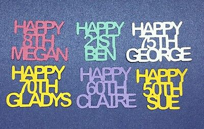 Personalised Table Confetti Happy Age Name Birthday Party Celebration Decoration