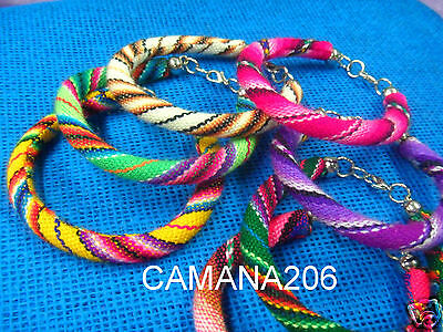 20 Manta Inca Friendship Bracelets Woven Wool Textile **handmade In Cusco**