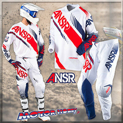 Completo Cross Enduro Answer Syncron 2017 White Red Taglia  M - 30