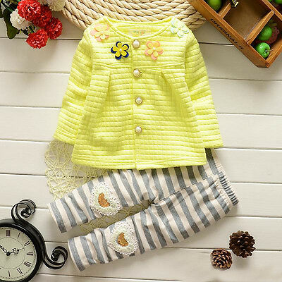 Girls Autum Sunshine Top & Leggings Outfit Set 18-24 Months 2-3 3-4 4-5 Years