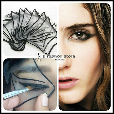 Stencils Perfect Cat Eye Template Eyeliner Smokey Eyeshadow 7 Styles Makeup Tool