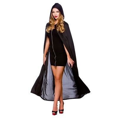 Cape With Hood Ladies Halloween Fancy Dress Costume Accessory