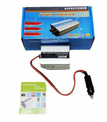 Inversor de corriente Transformador Conversor Mechero Enchufe 200W USB 220V 4131
