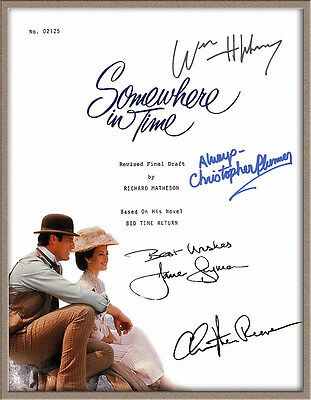 "Christopher Reeve Jane Seymour Signed ""somewhere In Time"" Movie Script Rpt"