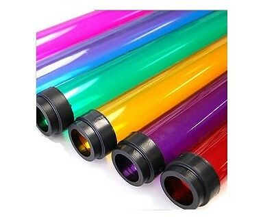 """48"""" T8 4' COLORED Tube Guard Fluorescent Plastic Light Cover Sleeve NEW (QTY 48)"""