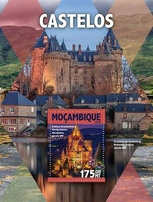 Z08 IMPERFORATED MOZ16126b MOZAMBIQUE 2016 Castles MNH