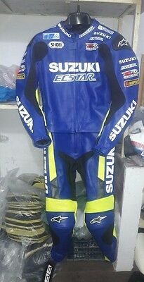 New 2016 Suzuki ECStar Motorbike Hand Made Leather Racing Suit