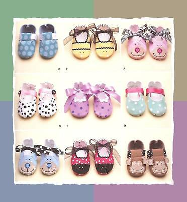 Baby Shoes Slippers to Sew PATTERN Simplicity 2491 Infant Crissy Playpal Dolls +
