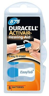 Duracell Activair Hearing Aid Batteries Size 675 (12 Cells) 3 year shelf life US