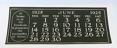 Coca Cola 1925 Calendar June page for Girl at Party Theme Calendar mint