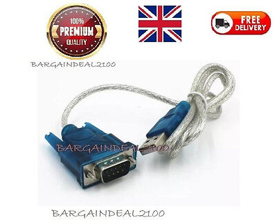 USB 2.0 To RS232 Serial Port DB9 9 Pin Male Converter Adapter Cable PDA GPS New