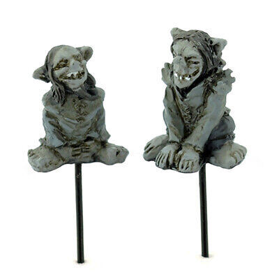 "5/8"" to 3/4"" My Fairy Gardens Tiny Micro Mini Halloween Troll Picks - Set of 2"