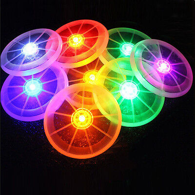 Funny Flying LED Disk Light Up Frisbee Outdoor Multi Color Toys Pet Supplies