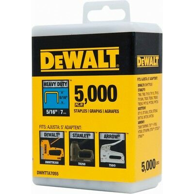 "DEWALT DWHTTA7055 5/16"" Heavy Duty Staples (Pack of 5,000)"