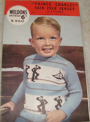 Old Vintage Instruction Folder of Knitting the Jersey from England 1950