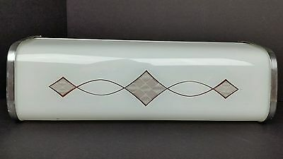 Vintage Mid Century Modern Atomic Bathroom Wall Sconce Vanity Light Fixture