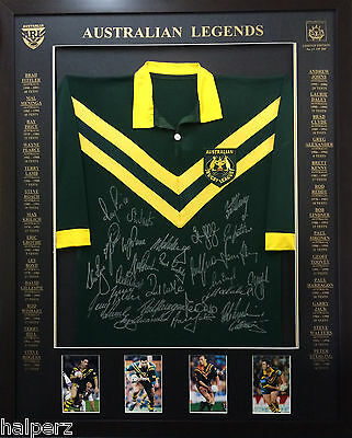 Blazed In Glory - Australian Legends - NRL Signed and Framed Jersey