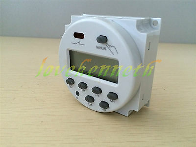DC12/24V AC110/220V 16A Digital LCD Power Programmable Timer Relay Time Switch