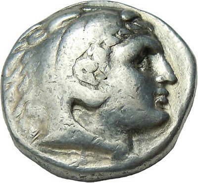 Alexander III The Great Macedon AR Tetradrachm Herakles Zeus Ancient Greek Coin
