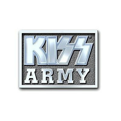 KISS Army Block Band Logo Metal Pin Badge Brooch Album Official Product