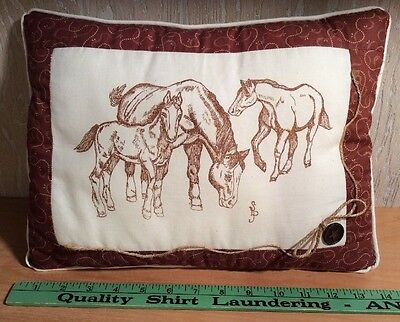 Decorative Horse Pillow - Cowboy Western Or Country Themed Room Decor