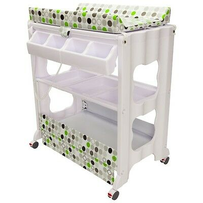 NEW INFA SECURE Cosmo Change Centre Bath table all in one Green Circle