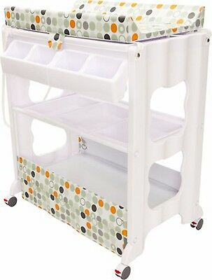 NEW INFA SECURE Cosmo Change Centre Bath table all in one Orange Circle PICK UP
