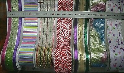 SPECIALITY Ribbon Wired 6 Styles 65mm Wide - 1 & 2 Metre Lengths MultiList HT2BH