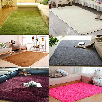 Small Large Size Thick Plain Soft Shaggy Rug Non Shed Pile Modern Carpet Rugs