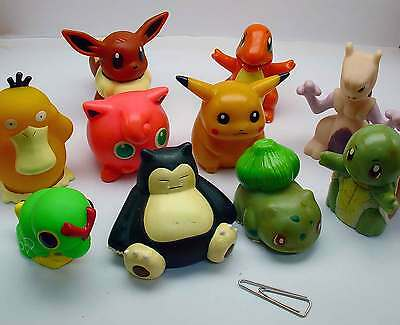 Anique BANDA NINTENDO POKEMON POCKET MONSTERS Puppet Figure Mini Toy Lot of 10