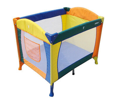 TRAVEL Cot AUSSIE BABY F7403 Easy Portable  - COLORFUL BABY BED CRIB PLAYPEN