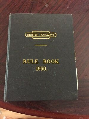 Vintage Original First Edition British Rail Rule Book 1950