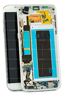 Samsung S7 Edge G935f LCD Touch Screen Digitizer Display weiss white GH97-18533D