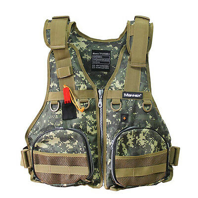 Multi Outdoor Fishing Vest Camouflage Life Safety Jacket Swimming Waistcoat BF