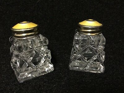 Antique Silver And Enamel Norwegian Salt And Pepper Shakers