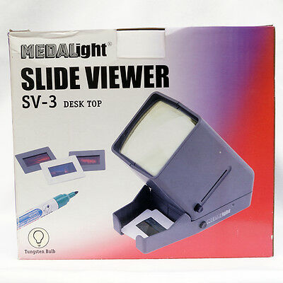Medalight 35mm Mounted Slide viewer SV-3 desktop