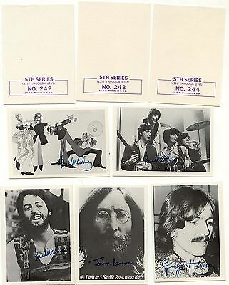 Topps Beatles Black and White 5th series Gum Card Lot, Partial Set 29 mint cards