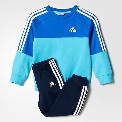 adidas boys blue/navy infant/baby tracksuit. Jogging suit. Age 3-4 years