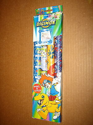 Digimon Digital Monsters Removable Self Adhesive Vinyl School Book Cover New MIP