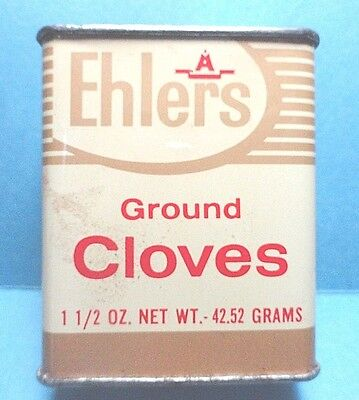 """Vintage """"EHLERS"""" Brand Cloves Spice Tin  FREE SHIPPING"""