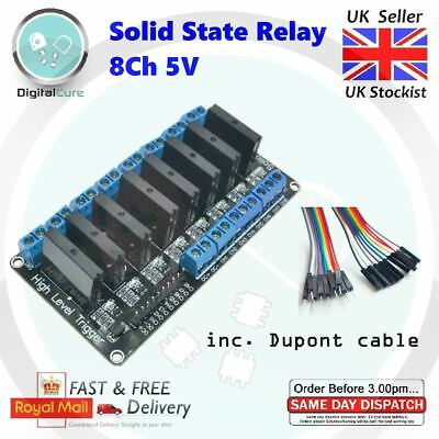 8 Channel 5V SSR Solid State Relay Module Board - Arduino Raspberry PIC AVR ARM