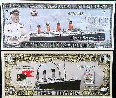 RMS Titanic ship FREE SHIPPING! TWO DIFFERENT KIND novelty bills